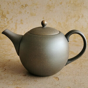 """TOKONAME"" TEAPOT - Sand Ceramic cover - 480ml"