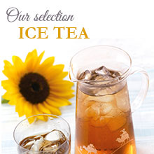 Our selection of iced teas