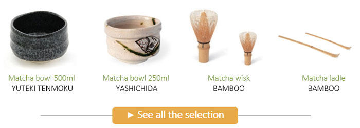 Traditionnal accessories to prepare Matcha