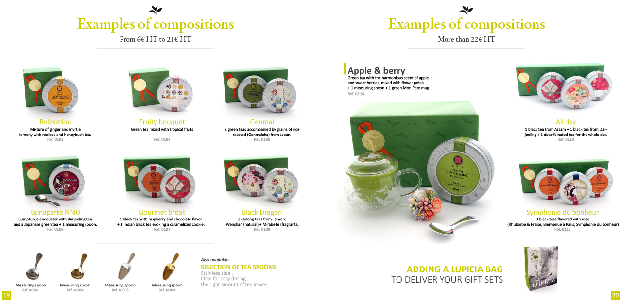 LUPICIA business gifts brochure.